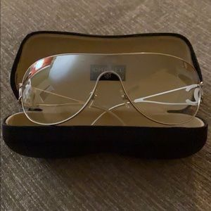 Chanel clear glasses